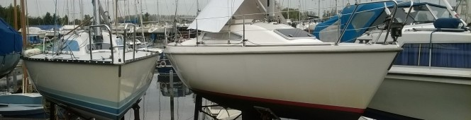 De boot staat weer op dekant